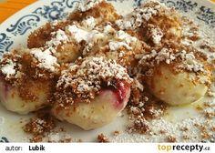 Tvarohové knedlíky s borůvkami recept - TopRecepty.cz Dumplings, Grains, Pizza, Rice, Bread, Brot, Baking, Breads, Seeds