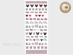 Love Mickey Water Slide Nail Art Decals - 1 pc (DS-143)