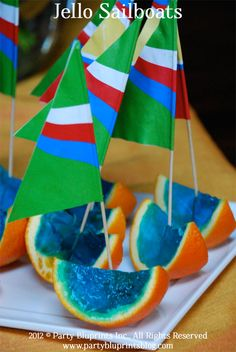 Summer party dessert - jello sailboats!