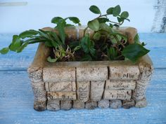 Wine Bottle Cork Crafts DIY Wine Cork Plant Container