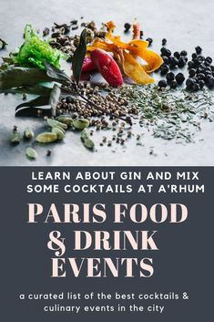 Learn all about gin and how to mix it in cocktails in small workshops at A'Rhum spirits shop. Alcohol Bar, Paris Food, Fun Cocktails, Bartender, Gin, Workshop, Spirit, France, Shopping
