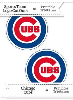 Medium Chicago Cubs Logo Cut Outs from PrintableTreats.com