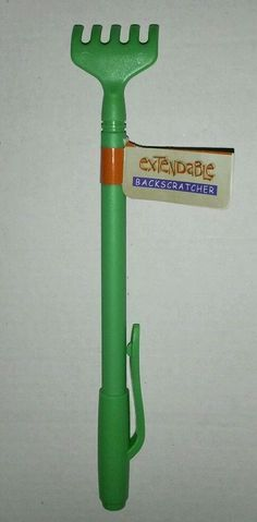Backscratcher Metal Telescopic Green Plastic Tip Handle Clip Extendable 16 inch