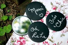 The Wall Tent Button Co | Chalkboard Buttons