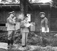 Heinrich Himmler and Joseph Goebbels at the Wolf's Lair, Hitler's military headquarters