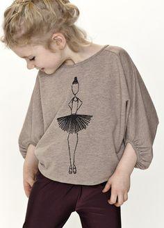GRO Company Pernille Circle Sleeve Tee - T-shirts & Tops - Girls | Scandinavian Minimall