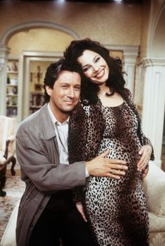Still of Fran Drescher and Charles Shaughnessy in The Nanny (1993)