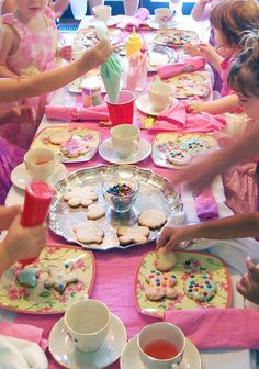 A princess tea time birthday party including ideas for food, crafts ...