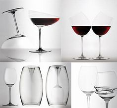 wine glass collection ~ these are cool