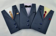 Suit Gift Card Holder  Navy Blue Coat w/ Your Choice by HRtistry