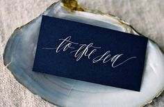 inspiration-guide:  seaside calligraphy by feast