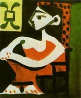 Pablo Picasso. Portrait of Jacqueline profile II, 1959