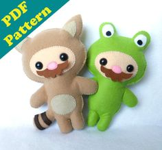 PDF PATTERN -Tanooki & Frogsuit Mario Plush (Digital Download)