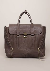 """cute, zipped or unzipped. unfortunately 3.5"""" handle drop doesn't sound (or look) big enough to tote on shoulder.. :("""