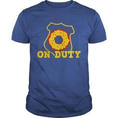 on duty police shield and doughnut