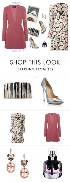 """""""Party On: Long Sleeve Dresses"""" by lence-59 ❤ liked on Polyvore featuring Serpui, Casadei, Biba, Reformation, Effy Jewelry and Yves Saint Laurent"""