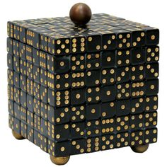 Artisan-made Dice Box - 1960 - this could easily be duplicated using vintage dominoes