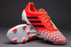 adidas Football Boots - adidas Predator LZ TRX FG SL - Firm Ground - Soccer Cleats - Infrared-Black-Running White