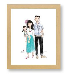 CUSTOM WATERCOLOR PORTRAITS - Sophie and Lili