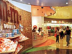 M&M's World  3785 S. Las Vegas Blvd.    Hours of operation: Open daily, 9 a.m. - 12 a.m.   Cost: Free  Location: Near the corner of the Strip and Tropicana Avenue. Next door to the MGM Grand hotel-casino.