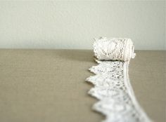 vintage french scalloped lace by voladoravintage