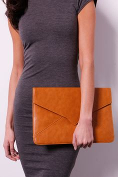 Elena Oversized Envelope Clutch Bag £12