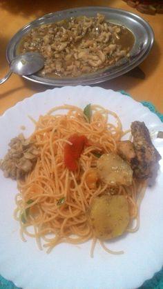 Talharim ao pomodori pelati e shimeji na manteiga by Pati