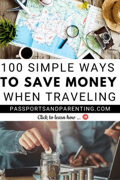 Travel is amazing, but wouldn't it be even better if you could actually save money before, during and after your trip or vacation? Here are 100 simple ways to save money when traveling. Travel Rewards, Travel Money, Travel Deals, Solo Travel, Budget Travel, Travel Usa, Travel Guides, Travel Destinations, Ways To Travel
