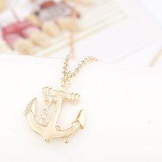 Gold Coloured Anchor Necklace