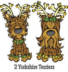 On the Second Dog of Christmas, my SoulMutt gave to me .... Two Yorkshire Terriers http://www.angrysquirrelstudio.com/got-dog-the-12-dogs-of-christmas-holiday-gift-guide/
