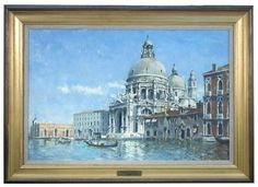"Stanley Orchart (British, 1920–2005) Santa Maria della Salute, Venice signed lower left ""Orchart"" oil on board h:49 w:74 cm  - Cheffins"