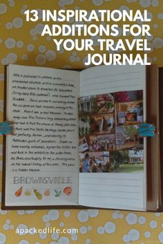 13 Inspirational Additions For Your Travel Journal: Tennessee Journal Travel Journal Scrapbook, Travel Journal Pages, Best Travel Journals, Travel Books, Ireland Travel, Galway Ireland, Ireland Vacation, Travel Album, Travel Memories