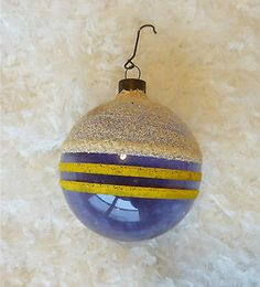 Vintage 1940s Shiny Brite Unsilvered Christmas War Ornament