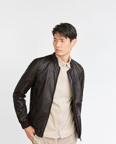 ZARA - MAN - FAUX LEATHER JACKET