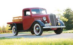 1937 Ford 1/2-Ton Platform Pickup Truck.