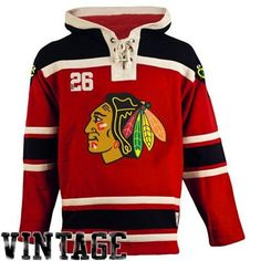 Men s Chicago Blackhawks Old Time Hockey Red Home Lace Heavyweight Hoodie 0dfc12fbf4c