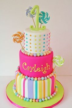 candyland cake - Google Search