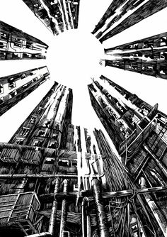 Сообщество иллюстраторов | Иллюстрация Light - White sun. Графика.