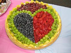 Heart Fruit plate