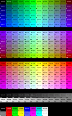 Colour A Elements Surrounding Com Hexadecimal With Colors All