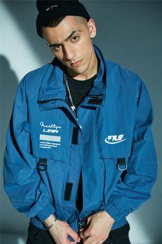 Cargo Jacket, Denim Jacket Men, Windbreaker Jacket Mens, Japanese Streetwear, Womens Parka, Printed Denim, Hip Hop, Long Sleeve Shirts, Street Wear