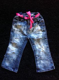 Toddler girl jeans by DestroyedBySnow on Etsy https://www.etsy.com/listing/233471520/toddler-girl-jeans