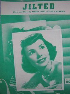 1954 JILTED BY COLBY MANNING TERESA BREWER ORIGINAL SHEET MUSIC - http://musical-instruments.goshoppins.com/sheet-music-song-books/1954-jilted-by-colby-manning-teresa-brewer-original-sheet-music/