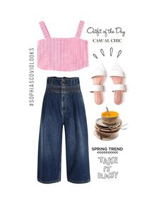 Procura que los platos sucios no hagan match con outfit. #fearless #sophiascovidlooks Spring Trends, My Style, Polyvore, Top, Outfits, Ideas, Fashion, Finding Nemo, Red Stripes