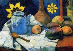 Paul Gauguin Still Life with Teapot and Fruit painting is available for sale; this Paul Gauguin Still Life with Teapot and Fruit art Painting is at a discount of off. Paul Gauguin, Henri Matisse, Henri Rousseau, Tahiti, Maurice De Vlaminck, Fine Art Prints, Canvas Prints, Canvas Art, Still Life Fruit