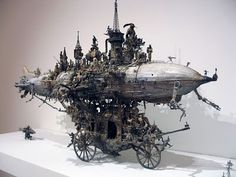 The Cosmicomicon: Pretty Pictures of Terrifying Things: Artist Kris Kuksi Melds the Horrific and the Political in a Stunning Three Dimensional Apocalyptic Vision Weird Pictures, Pretty Pictures, Bizarre News, Model Maker, Detail Art, Small World, American Artists, Three Dimensional, Altered Art
