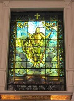 "Louis C. Tiffany and Company, after Albrecht Durer | ""Blessed are the pure in heart, for they shall see God"" window, 1886 