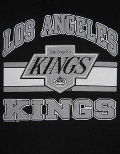 Vintage 80s Trench Los Angeles Kings Hockey NHL Gretzky Era Sports T Shirt L F2 | eBay