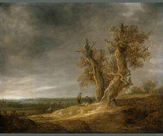 Landscape with Two Oaks  c. 1641  Jan van Goyen  Oil on canvas  Rijksmuseum  Object number SK-A-123  #dutchmasters