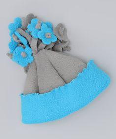 great idea for flowers on fleece hat Corky's Kids |